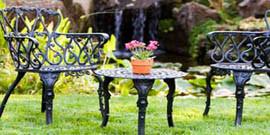 Садовая мебель из металла – изюминка вашего участка