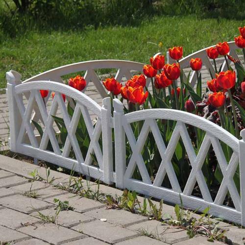 Декоративные забор для клумб