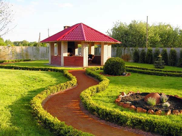 На даче ландшафтный дизайн