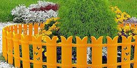 Декоративные заборчики для клумб или как стильно оформить цветник?
