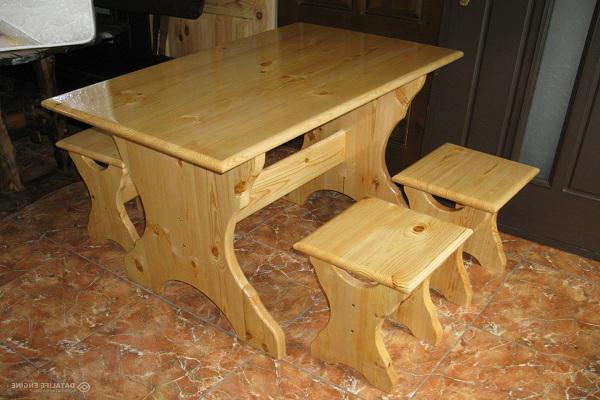 Деревянный стол своими руками с фото