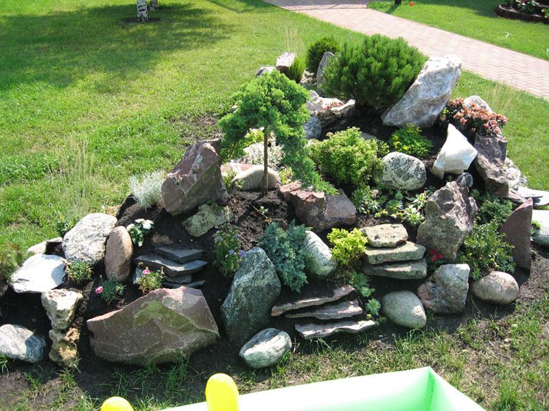 Фото ландшафтный дизайн из камней