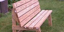 Садовая скамейка своими руками – креативные решения