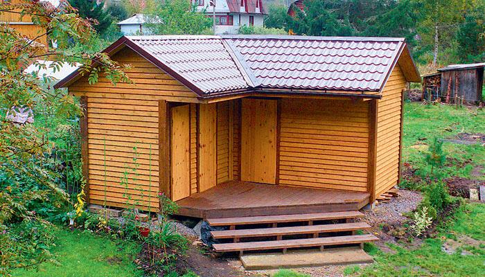 Душ туалет и хозблок на даче своими