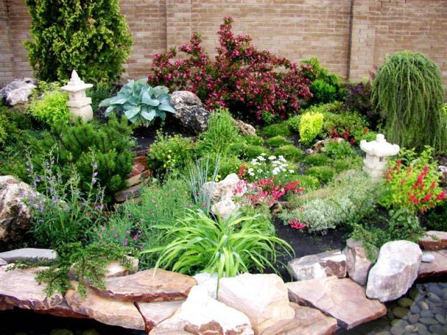 Горка на даче своими руками какие растения нужны