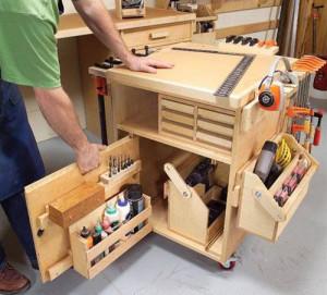 Как осуществляется хранение инструмента в мастерской? фото