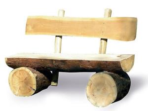 Делаем скамью из живого дерева!