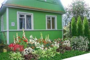 Фото придомового палисадника, 101dizain.ru