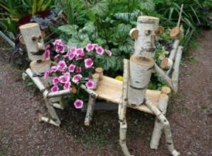 Фото самодельной фигуры для сада, hoziaindoma.ru