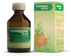 На фото - аптечная настойка календулы, priwi.ru