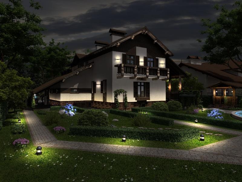 Автономное освещение на даче
