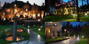 Фото светильников для освещения двора и сада частного дома, nwbc.ru