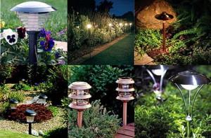 На фото - фонари для садового участка, 1dacha-sad.com