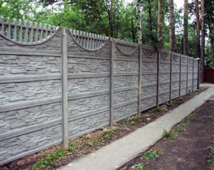 На фото - бетонная изгородь, stroygrand.com