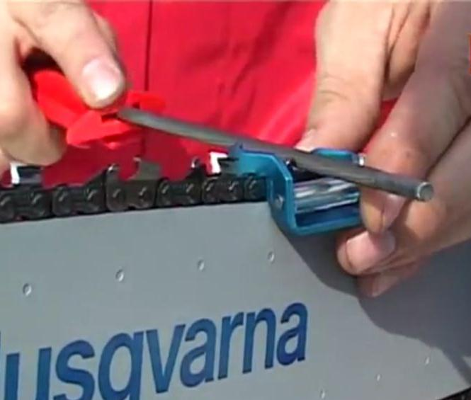 Как заточить цепь бензопилы фото