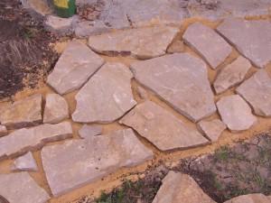 На фото - укладка дорожки на песок, na-dache.com.ua
