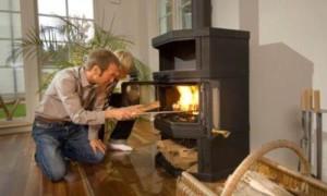Отопление дачного дома дровами фото
