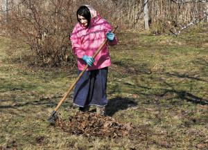 На фото - уборка сада весной, aif.ru