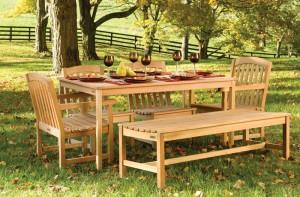 Фото деревянной садовой мебели, liveinternet.ru