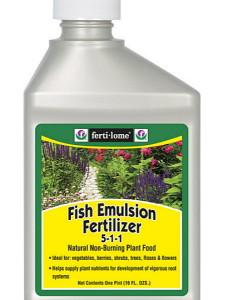 На фото - рыбное удобрение, fertilome.com
