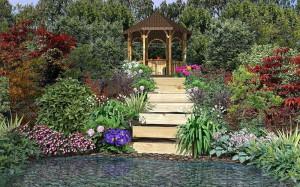 На фото - ландшафтный дизайн сада, landshaftnyi-dizayn.mydiz.ru