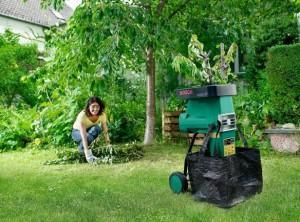 На фото - профессиональный электрический садовый измельчитель, storgom.com.ua