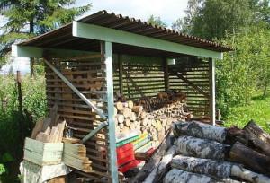 На фото - сарай для дров, pensionerka.net