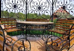 Фото круглой кованой беседки для дачи, vinnytsia.all.biz