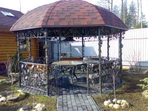 Фото большой кованой беседки для дачи, haliber.ru