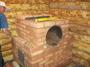 На фото - кирпичная печка в баню своими руками, prostroika.info