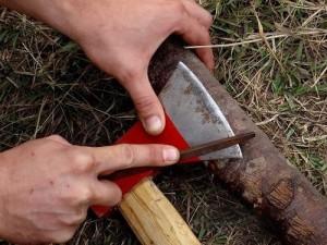 Правильная заточка топора своими руками – что такое фаска? фото