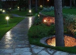 Фото освещения садовых дорожек, dorozhka-sadovaya.mydiz.ru