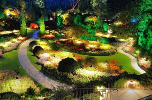 Фото освещения клумб в саду, asb-club.ru