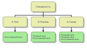 Фото схемы выбора типа газона, 1landscapedesign.ru