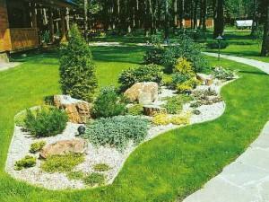 Каким должен быть ландшафтный дизайн вокруг дома? фото