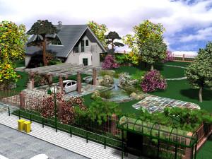Ландшафтный дизайн двора частного дома – творим своими руками