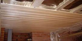 Как и чем утеплить потолок бани – современные и народные методы