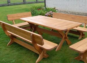 Фото деревянной садовой мебели, svoimyrukami.ru