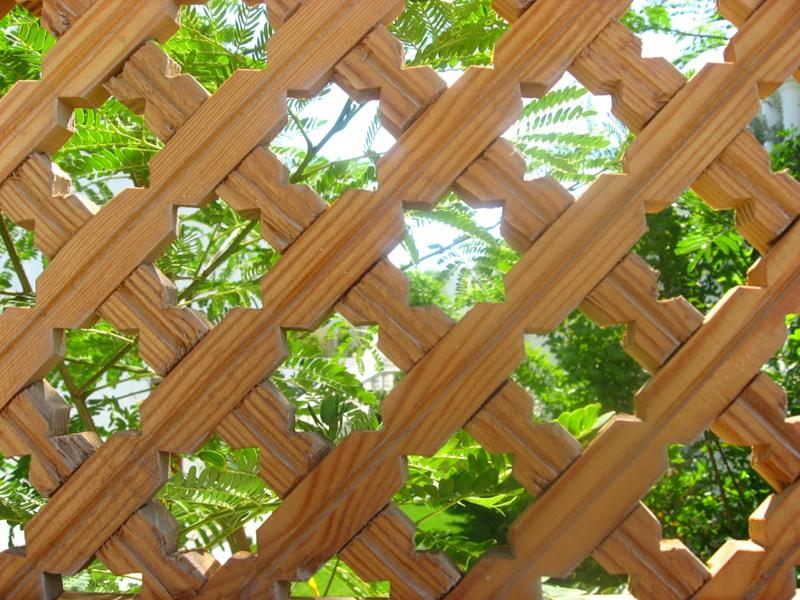 Деревянные палисадники фото