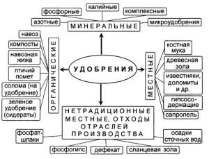 На фото - виды удобрений, tinref.ru