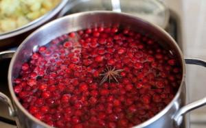 Фото приготовления компота из брусники, kumovya.com