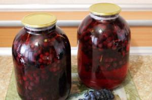 Виноградный компот на зиму – лучшие рецепты приготовления