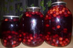 На фото - вишневый компот с ягодами на зиму, liveinternet.ru