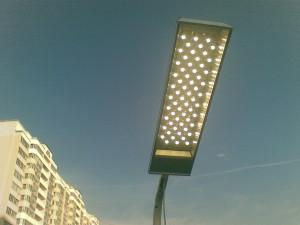 На фото - LED-светильник для улицы, emt-ural.ru