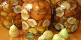 Как приготовить компот из груш на зиму – простые рецепты