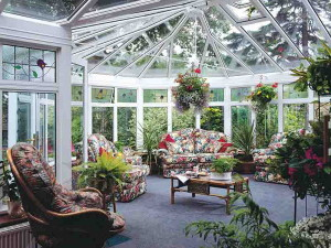 На фото - крыша зимнего сада, zelen.com.ua