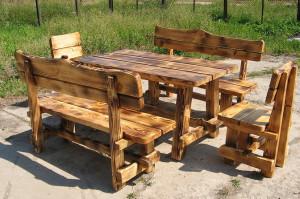 На фото - садовая мебель из дерева своими руками, 1landscapedesign.ru