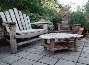 Фото садовой мебели из остатков дерева своими руками, muratordom.com.ua