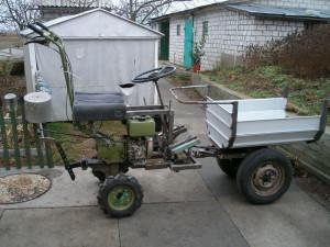 Как быстро получить самодельный трактор из мотоблока фото