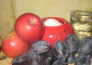 Фото яблок со сливами для компота на зиму, russianfood.com